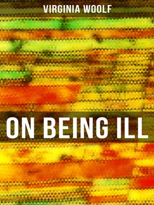 cover image of ON BEING ILL