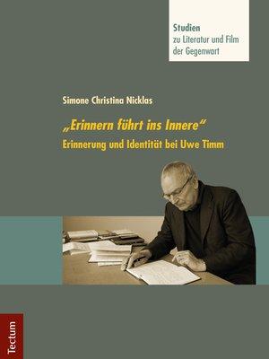"cover image of ""Erinnern führt ins Innere"""