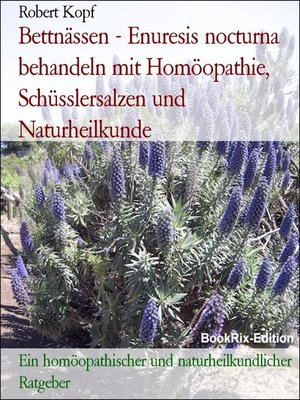 cover image of Bettnässen--Enuresis nocturna behandeln mit Homöopathie, Schüsslersalzen und Naturheilkunde