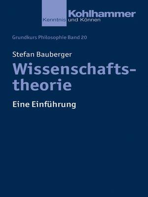 cover image of Wissenschaftstheorie