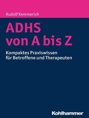 cover image of ADHS von a bis Z