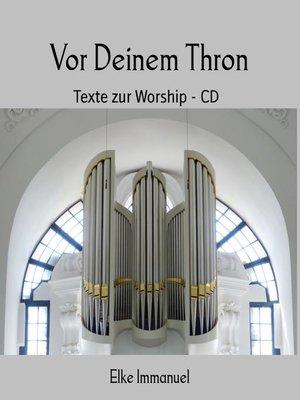 cover image of Vor Deinem Thron