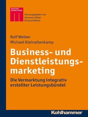 cover image of Business- und Dienstleistungsmarketing