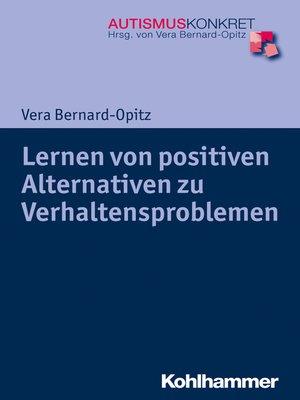 cover image of Lernen von positiven Alternativen zu Verhaltensproblemen
