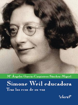 cover image of Simone Weil educadora