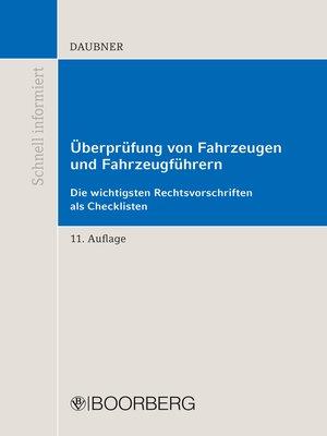 cover image of Überprüfung von Fahrzeugen und Fahrzeugführern