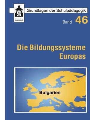 cover image of Die Bildungssysteme Europas--Bulgarien