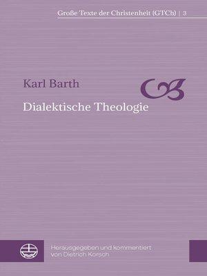 cover image of Dialektische Theologie