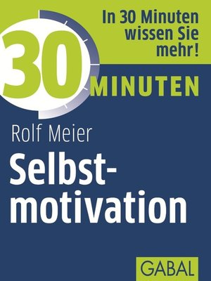 cover image of 30 Minuten Selbstmotivation
