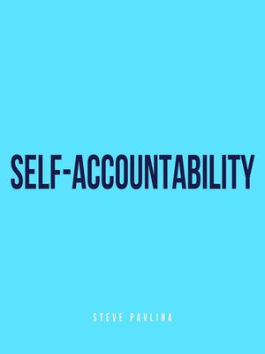 cover image of Self-Accountability