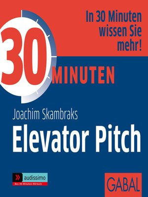 cover image of 30 Minuten Elevator Pitch