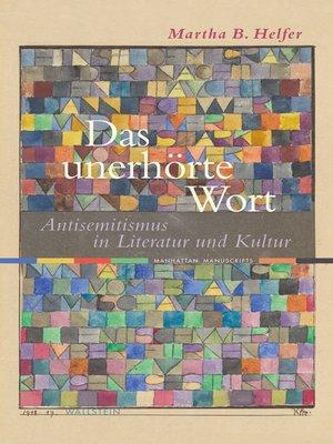 cover image of Das unerhörte Wort