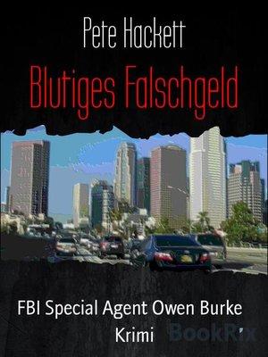 cover image of Blutiges Falschgeld