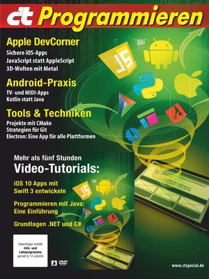 cover image of c't Programmieren (2017)