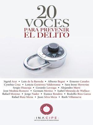 cover image of 20 voces para prevenir el delito