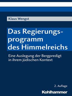 cover image of Das Regierungsprogramm des Himmelreichs