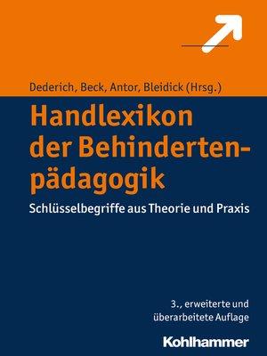 cover image of Handlexikon der Behindertenpädagogik