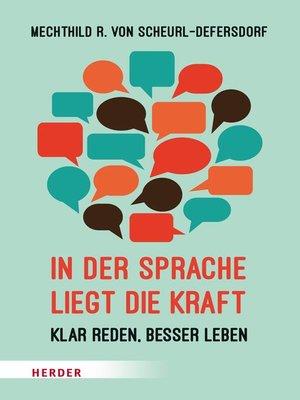 cover image of In der Sprache liegt die Kraft