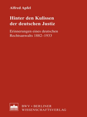 cover image of Hinter den Kulissen der deutschen Justiz