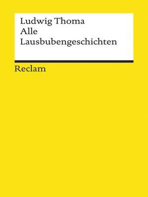 cover image of Alle Lausbubengeschichten