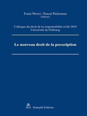 cover image of Le nouveau droit de la prescription
