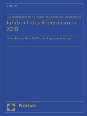 cover image of Jahrbuch des Föderalismus 2018