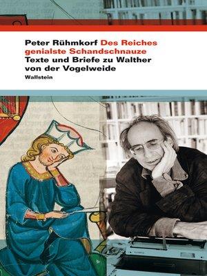 cover image of Des Reiches genialste Schandschnauze