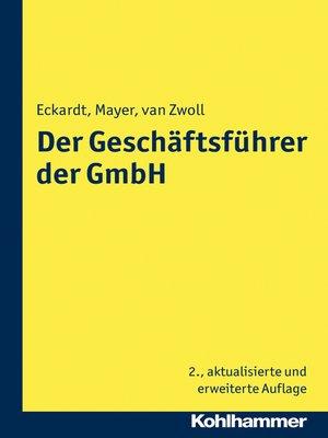 cover image of Der Geschäftsführer der GmbH