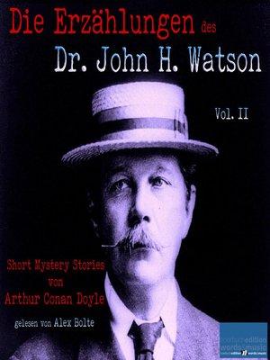 cover image of Short Mystery Stories von Sir Arthur Conan Doyle / Volume II