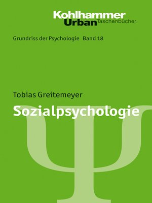 cover image of Sozialpsychologie
