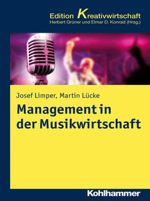 cover image of Management in der Musikwirtschaft