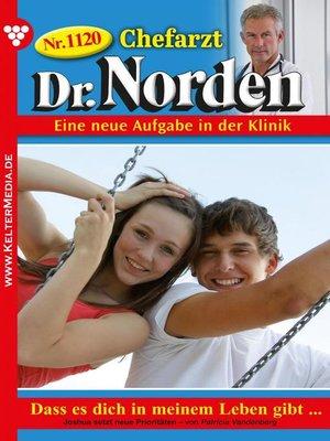 cover image of Chefarzt Dr. Norden 1120 – Arztroman