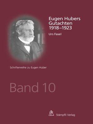 cover image of Eugen Hubers Gutachten 1918--1923
