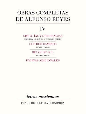 cover image of Obras completas, IV