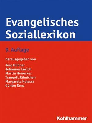 cover image of Evangelisches Soziallexikon