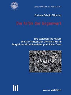 cover image of Die Kritik der Gegenwart