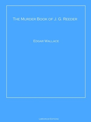 cover image of The Murder Book of J. G. Reeder