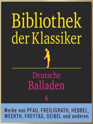 cover image of Bibliothek der Klassiker
