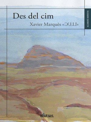 cover image of Des del cim