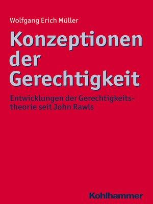 cover image of Konzeptionen der Gerechtigkeit