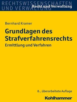 cover image of Grundlagen des Strafverfahrensrechts