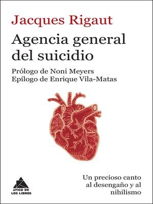 cover image of Agencia general del suicidio