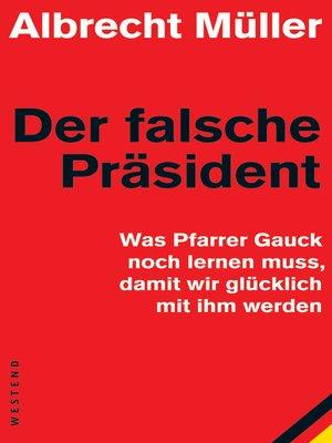 cover image of Der falsche Präsident