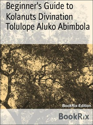 cover image of Beginner's Guide to Kolanuts Divination