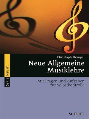 cover image of Neue Allgemeine Musiklehre
