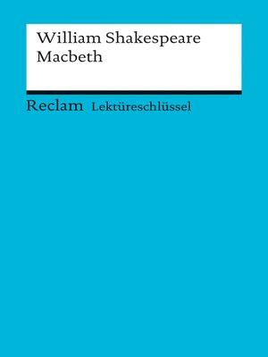 cover image of Lektüreschlüssel. William Shakespeare
