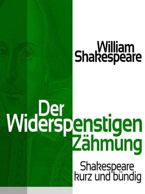 cover image of Der Widerspenstigen Zähmung