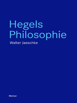 cover image of Hegels Philosophie