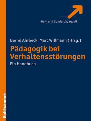 cover image of Pädagogik bei Verhaltensstörungen