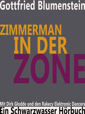 cover image of Zimmerman in der Zone